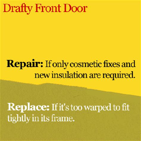 how to fix a drafty door drafty front door how to whether to repair or
