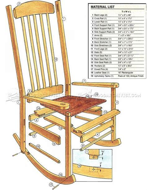 rocking chair plans ideas  pinterest rocking chair woodworking furniture plans