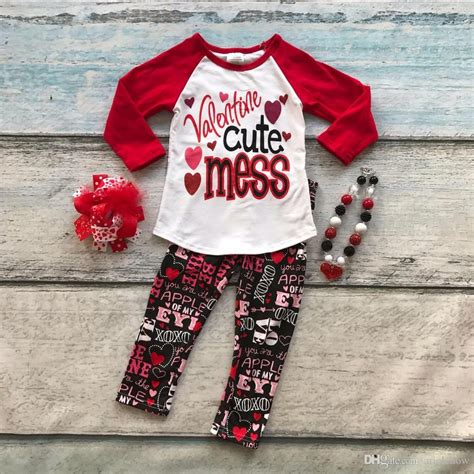 cotton valentines day boutique baby girls outfits