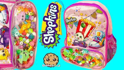 shopkins backpack cookieswirlc blind bags pack unboxing