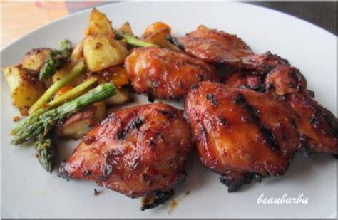 cuisiner une cuisse de poulet hauts de cuisse de poulet barbecue recette du chef