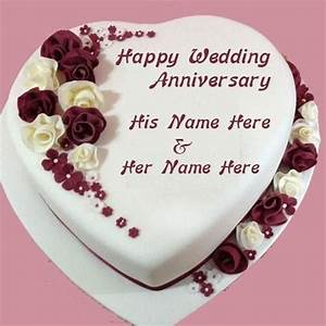 Happy Wedding Anniversary Cake Images With Name | Good ...
