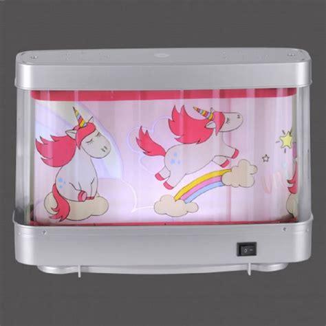 tischleuchte deko aquarium rotierendes motiv rosa einhorn