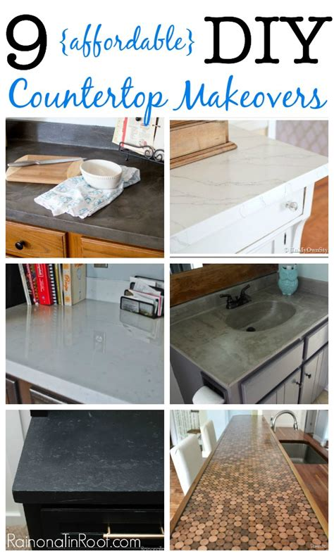 budget kitchen makeover diy faux marble countertops 9 diy countertop makeovers