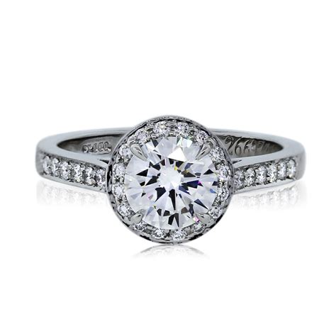 co platinum 1 01ct brilliant halo engagement ring