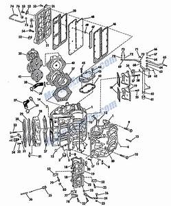 Johnson Powerhead Group Parts For 1965 90hp V4ml