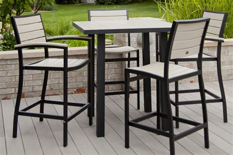 black and white table l patio high top table excellent black and white square