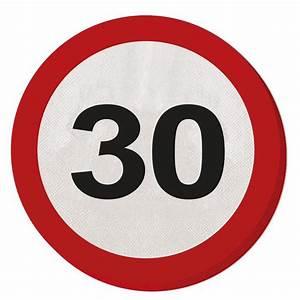 Pappteller 30 Geburtstag : runde servietten verkehrsschild 30 geburtstag 15 5 cm 20er pack g nstig kaufen bei ~ Markanthonyermac.com Haus und Dekorationen