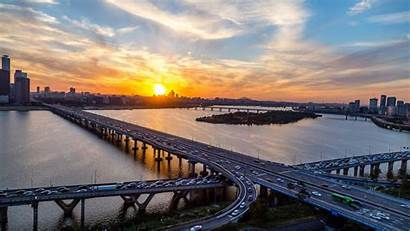 Korea Seoul Han River Desktop South Sunset