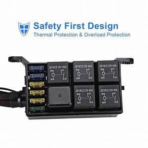 6 Switch Panel Relay Control Box   Wiring Harness Waterproof Led For Car Marine 7307759784445