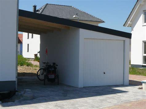 Carport Neben Garage by Garagen Carport Kombination Als Fertiggarage