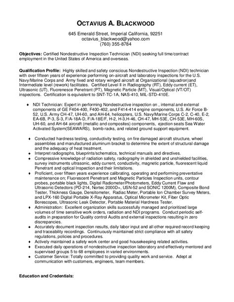 optical test engineer sle resume