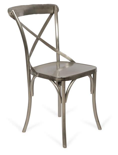 new metal cross back chair ebay