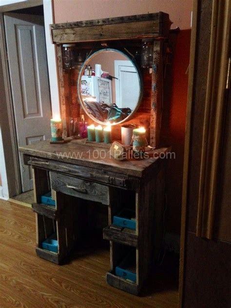 makeup vanity   reclaimed wooden pallets pallet ideas makeup vanities  pallets