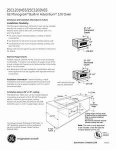 Ge Monogram Zsc1201nss Manuals