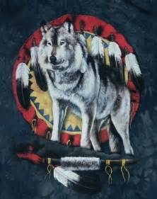 Feather Native American Wolf Art