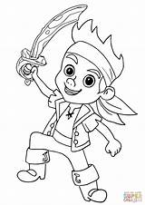 Jake Neverland Pirate Pirates Coloring Pages Drawing Ausmalbilder Hook Printable Princess Colouring Sheet Sheets Izzy Dots Silhouettes sketch template