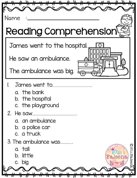 reading comprehension  suitable  kindergarten