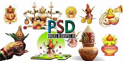 Indian Psd Kalash Banner Album Clipart Designs