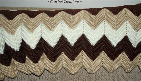 Single Crochet Ripple Afghan Pattern Free