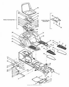 Mtd 13ai618h205  2001  Parts Diagram For Fender  U0026 Seat