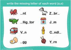 Write the missing letter word puzzle copy free printable for Missing letter word games