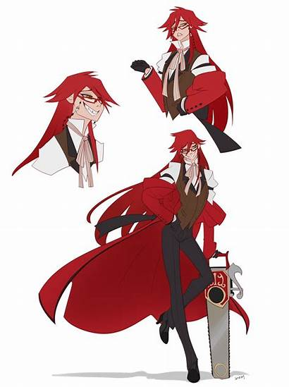 Grell Sutcliff Butler Stray Smiling Realized Looking