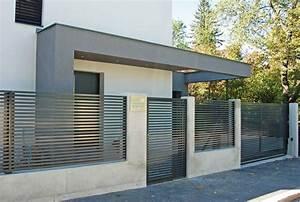 Aluminium Zaun Modern : modern concrete fence google fence pinterest ~ Articles-book.com Haus und Dekorationen