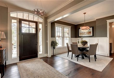 Dining Room In Entryway by Beautiful Family Home With Trendy Interiors Home Bunch
