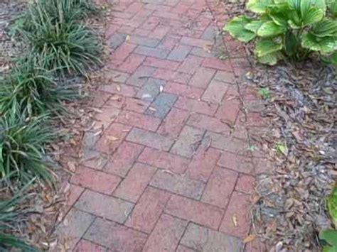brick patterns patios and pathways herringbone pattern brick pathway custom built by larrys