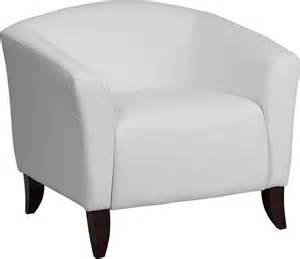 imperial series white leather reception area side chair