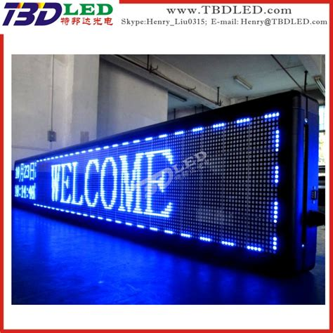 programmable led enseigne publicitaire led d 233 filement d 233 placement du message panneau d affichage