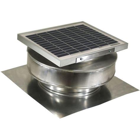 solar powered home fans active ventilation 365 cfm mill finish 5 watt solar