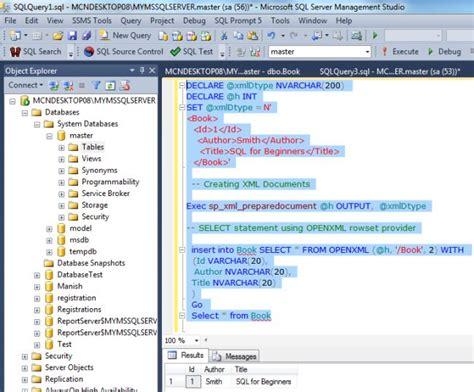 openxml function  sql server