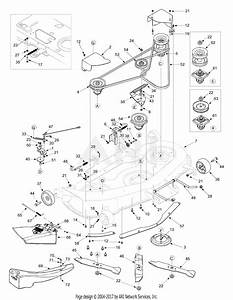 Mtd 14az818h705  2004  Parts Diagram For Deck Assembly