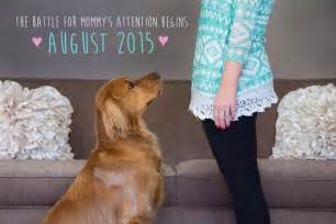 Pregnancy Baby Announcement with Dog