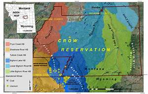 Study Area  Showing The Crow Reservation  Outlined By The