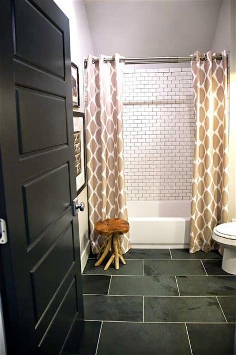 design dump boys bathroom slate floor subway tile