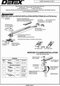 Detex R Installation Instructions For Advantex Mortise