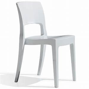 Kunststoff Stühle Stapelbar : salesfever designer stuhl aus kunststoff stapelbar hochglanz isy technopolymer online kaufen ~ Indierocktalk.com Haus und Dekorationen