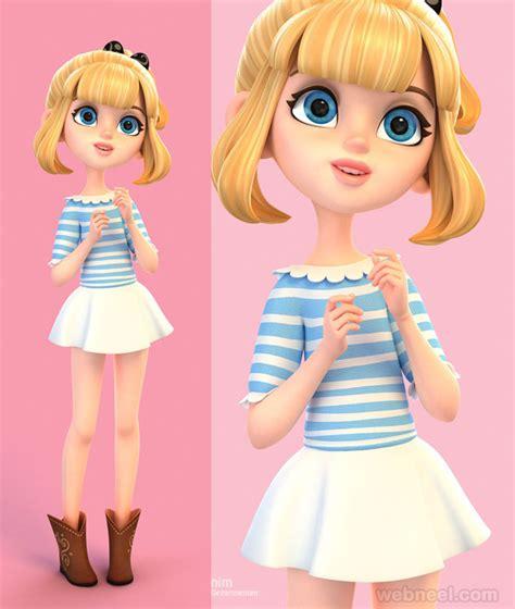 beautiful  girls character designs  models