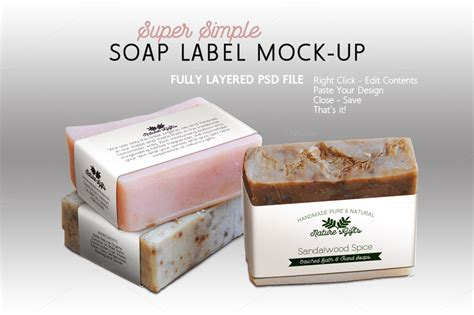 soap label mock  horizontal templates  creative market