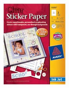 sticker paper yalandan With clear sticker paper office depot