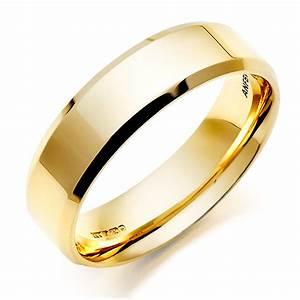men39s 18ct gold bevelled edge wedding ring 0005031 With gold wedding ring men