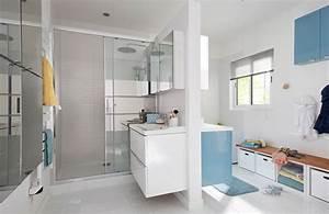une salle de bains familiale facile a partager styles de With meuble salle de bain imandra