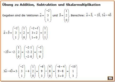 vektorrechnung vektoren multiplizieren laenge eines vektors