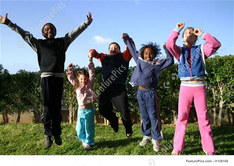 kids jumping photo