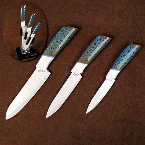 kitchen knives holder three ceramic kitchen cutlery set with counter top