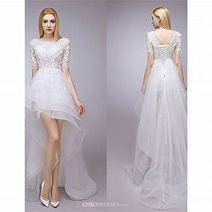 a line asymmetrical wedding dress jewel lacecheap uk With asymmetrical wedding dress