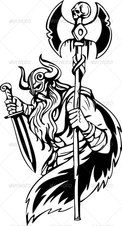 nordic viking vector illustration vinyl ready